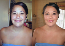 Before and after makeover photo